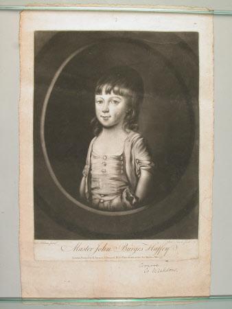 Lieutenant-Colonel John Burges Haffey as a child (after John Foldsone)
