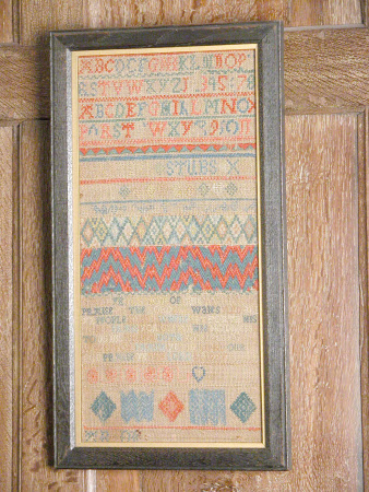 Sampler, Alphabet, Stitch Samples and Moral Text
