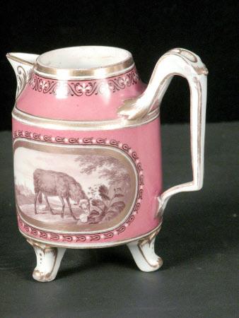Cream jug and saucer