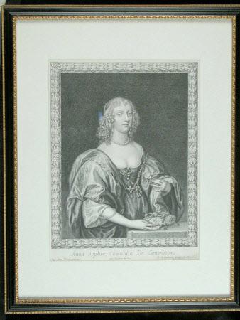 Lady Anna Sophia Herbert, Countess of Carnarvon (d.1695) (after Sir Anthony Van Dyck)