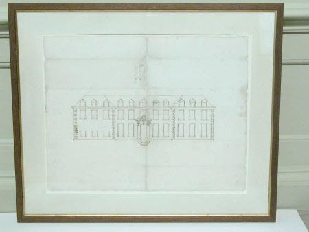 An Elevation of Hanbury Hall
