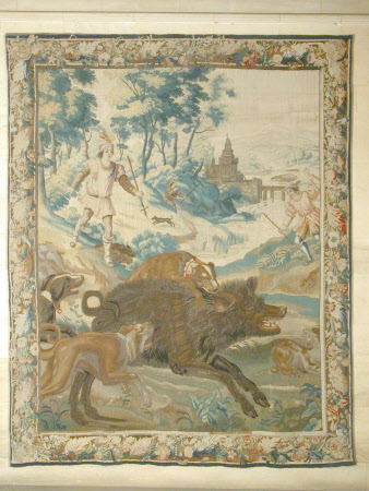 Boar Hunt in a Landscape