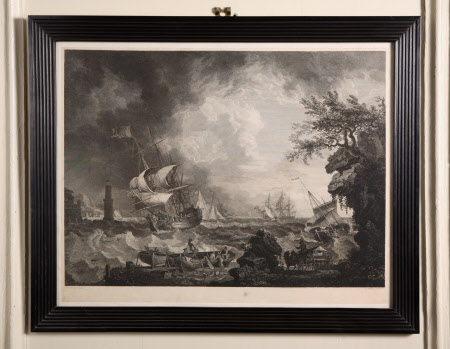 Stormy Maritime Scene (after Richard Wright)