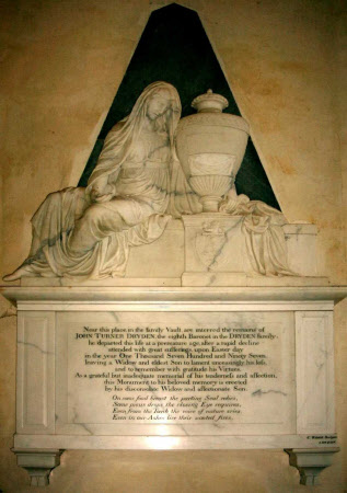 Wall Monument for Sir John Turner Dryden, 1st Baronet Dryden of Canons Ashby and 4th Baronet Turner ...