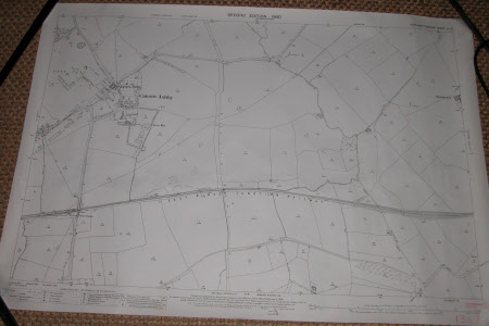 Map of Canons Ashby, Northamptonshire