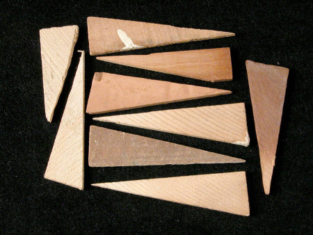 Picture frame wedge