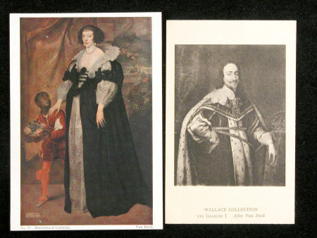 Postcards of Henrietta of Lorraine (1605-1660) (after Sir Anthony Van Dyck) and King Charles I ...