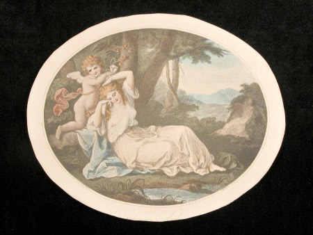 Cupid binding Aglaia (after Angelica Kauffman)