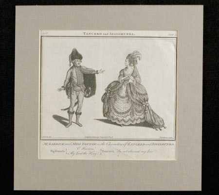 David Garrick (1717-1779) and Elizabeth Younge, Mrs Alexander Pope (1740-1797) (when Miss Younge) ...
