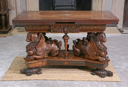 Hardwick Hall's so-called 'Sea-Dog Table' - circa 1575