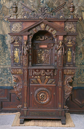 Hardwick Hall's so-called 'du Cerceau' Cabinet - circa 1570