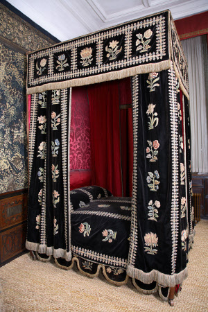 The so-called 'Mary, Queen of Scots' Bed'