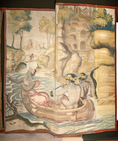 Nymph and Satyrs in a Boat