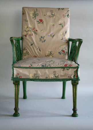 The Nostell Priory 'India chairs Japan'd Green and Gold' - 1771