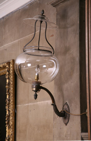 Nostell Priory's '8 Large Globe Lamps' in the Lower Hall - 1771
