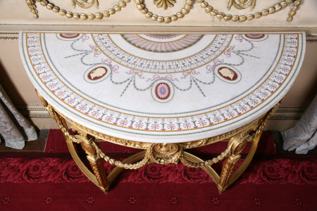 The Nostell Priory Saloon Pier Tables, after a design by Robert Adam (1728 - 1792) of 1775 - the ...