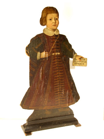 Silent Companion: Standing Figure of a Boy holding a Letter (dummy board)