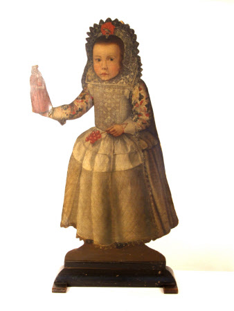 Silent Companion: Standing Figure of a Girl holding a doll (dummy board)