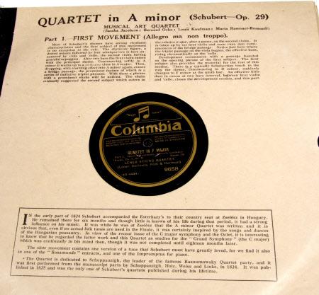 Quartet in F Major - Side;1) 1st Movement - Presto Side;2) 2nd Movement - Andante Cantabile