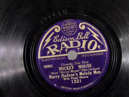 Side;1) Mickey Mouse - (from Film Cartoon) / Side;2) Cuckoo in the Clock