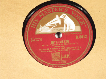 Side;1) Songs of India (From; 'Sadko') Side;2) Intermizzo (From; 'Cavalleria Rusticano')