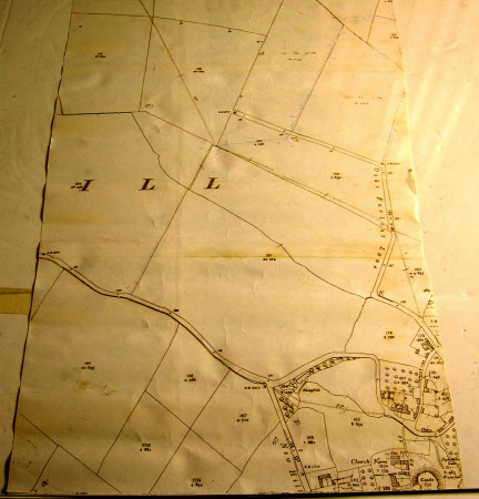 Map showing Hough on the Hill, Lincolnshire, and highlighting the mains water supply to Seagrave's ...