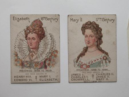 Queen Elizabeth I (1533–1603) and Queen Mary II (1662-1694)
