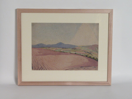 A landscape with ploughed field