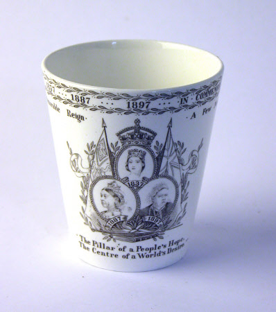A cup commemorating the Diamond Jubilee of Queen Victoria (1819-1901)