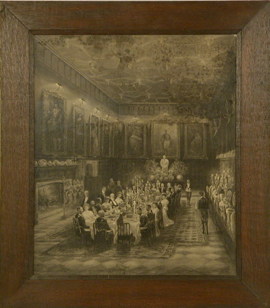 An Irish Banquet in the Great Hall, Knole, Kent, May 1904.