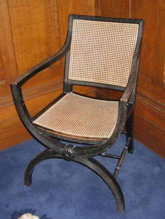 X-frame armchair