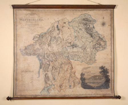 Map of the County of Westmorland from an actual survey made in the years 1822 and 1823 by C.