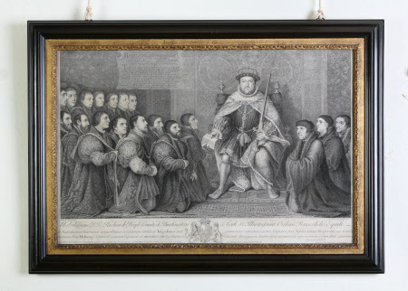 King Henry VIII (1491-1547) Presenting a Charter to the Barber Surgeons Company (after Hans Holbein ...