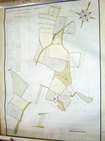 Map of farm in the parish of Hanworth, Norfolk