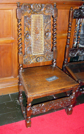 High-backed chair