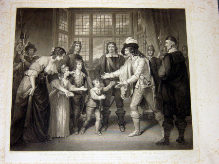 Interview of King Charles I with his Children in the Presence of Oliver Cromwell (after Samuel ...