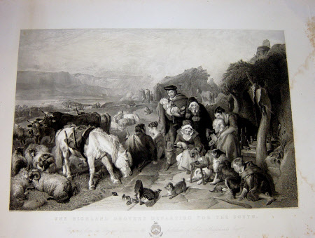 Highland Drovers departing for the South (after Sir Edwin Henry Landseer)