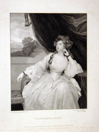 'Contemplation': Elizabeth Faulkner, The Hon. Mrs Henry Fitzroy Stanhope (after Sir Joshua Reynolds)