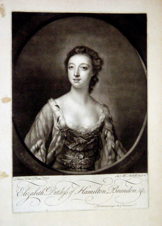 Elizabeth Gunning, Duchess of Hamilton and Duchess of Argyll (1734 – 1790) (after Francis Cotes RA)