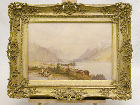 View of a Lake in the Alps (Verey) (after William Callow)