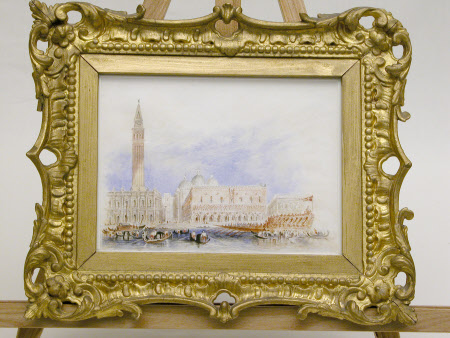 View of Venice from the Bacino, with the Doge's Palace, the Piazzetta, the Library, the Campanile, ...