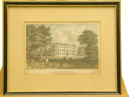 Saltram House Devon: South and West Fronts (after Thomas Allom)