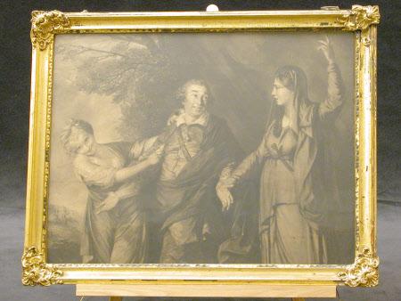 David Garrick (1717-1779) between 'Tragedy' and 'Comedy' (after Sir Joshua Reynolds PRA)