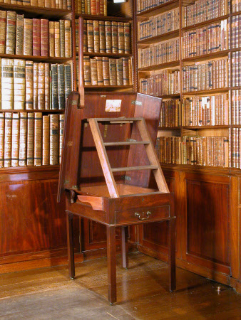 Saltram's 'Newly invented Library Steps' - 1777