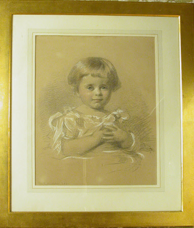 The Hon. Mary Vere Agar-Robartes, later Hon, Mrs Yarde Buller (1879-1946) as a Child