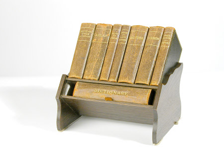 Miniature book rack