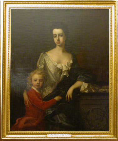 Lady Mary Robartes (d.1741) with her son Henry, later 3rd Earl of Radnor (c.1695-1741)