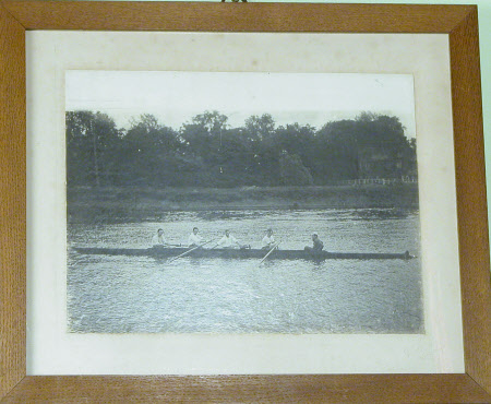 Four Eton rowers and Cox  on the Thames including The Hon. Cecil Edward Agar-Robartes (1892-1939)