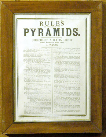 RULES OF THE GAME OF PYRAMIDS.