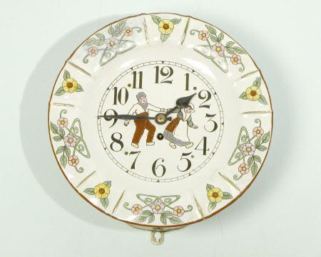 Nursery plate clock